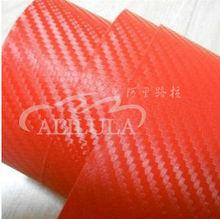 Durable new hot sale 1.52x30m purple 3d carbon fiber car vinyl sticker design with air free channel PVC