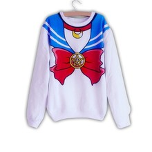 New Cute Sailor Moon Long Sleeve Thick Winter Tops High Quality Sweater KK698