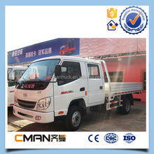 4x2 8 ton T-king light diesel truck for transport with double cabin