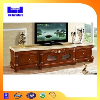 Antique furniture design wooden lcd tv table model for Table tv design