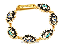 24K plated eye bracelet 2015 fashion style yong people