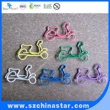 colorful car and bicycle shape paper clips/school supplies