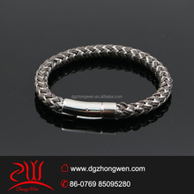 top design magnetic leather bracelet for man