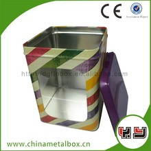 Empty Aluminum Cans Tin Container With Pvc Window