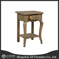 Reclaimed Oak Wood Night Stand French Style Bedroom Furniture Wooden cabinet