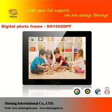 SH1502DPF 15 inch digital frame photo with led screen support background music