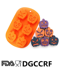 Halloween Silicone Cup Cake Pan of 6 cavity pumpkin elves KB-CM024