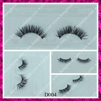 Hot sale black colour 3D mink false eyelashes with custom eyelash packaging