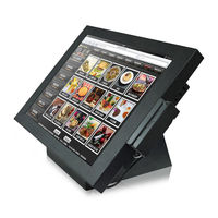 pos monitor /touch all in one pc /touch screen computer with card reader in restaurant