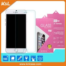 OEM/ODM For Mobile Phone accessories iPhone 6 screen protector tempered glass / 0.26mm 2.5D 9H tempered glass screen protector