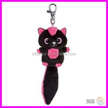 2015 hot selling and samll cute fox plush keychain