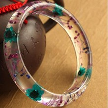 Beat Selling Lady Bangles Flower Custom Resin Lucite Bangles Jewelry