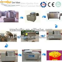 Automatic potato chips frying machine/snake food making machine