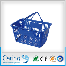 high quality hand held supermarket shopping baskets/trolley basket with large capacity