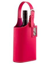 Storage PU leather wine bottle holder factory