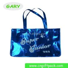 Royal Blue Metallic Non Woven Waterproof Tote Bag Printing/T-shirt Shopping Bag