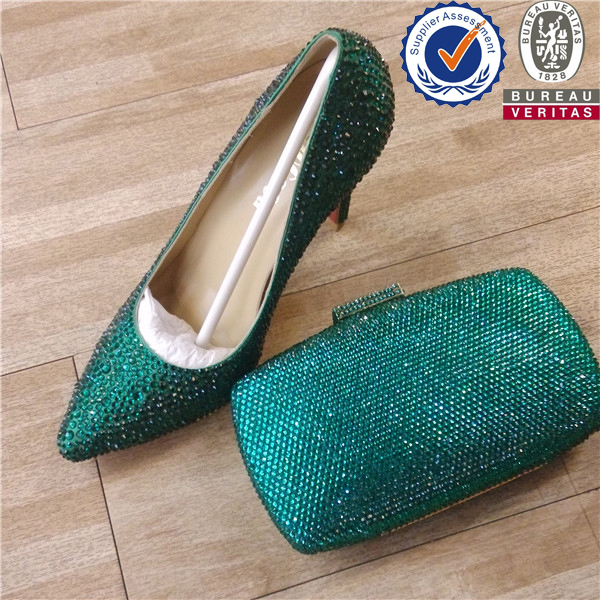 New Style Rhinestone Matching Green Shoes And Bags - Buy Matching Green Shoes And BagsMatching ...