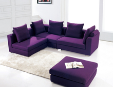 Modern Purple Color Royal Furniture Sofa Set Leather Sofa In Poland Living Room Luxury Sofa