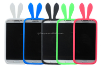 hot sale Cute rabbit ear silicon cell phone cases for Universal mobile phone