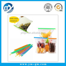 Plastic bag for food & plastic sealing clip for food bag