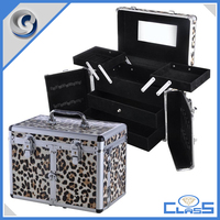 High Quality Aluminium Lighted Makeup Train Case Mirror Trays MLD-AC2345