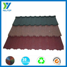 Custom waving roof / galvanized steel stone-coated metal roof tile