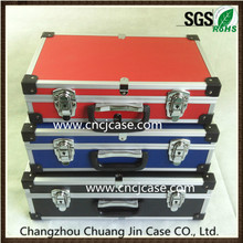 Quality assurance high-grade durable three-piece set aluminum tool case