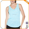 China manufacturer Wholesale slim Fit blank design burnout workout Bamboo V neck Tank Tops sleeveless tee for women hot sale