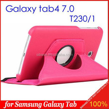 360 Rotating PU Leather Stand Case Cover For Samsung Galaxy Tab 4 7.0inch T230 T231