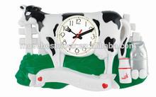 Leche de vaca animal de los relojes de pared
