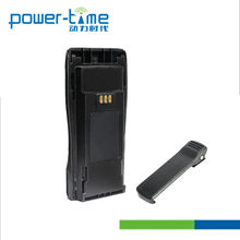 walkie talkie battery with integral belt clip High Capacity with round back for Two way radio CP040/150/200(PTM-040L)