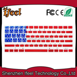 "OEM Colorful Silicone Keyboard Protective Film Cover Skin For MacBook Pro 13"" 15"" 17"""