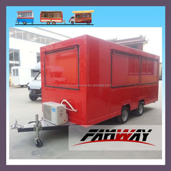 Lowest price best quality food cart trailer for coffee and beef