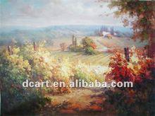 Impressionist Village Landscape Painting On Canvas