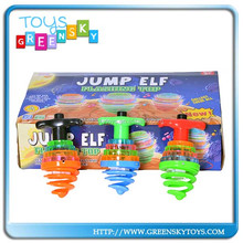 jump elf music and light plastic spinning top
