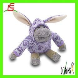 LE C1557 knitting monkey with colourful cloth , new style knit monkey hot sale