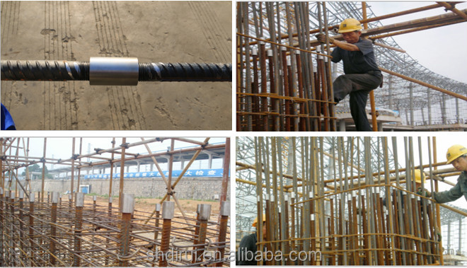 Reinforcing Steel Couplers : D mm taper rebar coupler hdpe to steel pipe coupling
