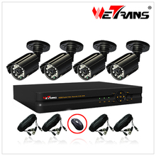 WETRANS 4CH D1 DVR Kit and 20m IR Camera system CCTV