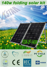 140w 18v solar battery charger camping portable solar folding panel/solar energy home system