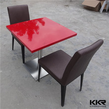 Colourful dinning tables and chairs / modern solid surfaces dinning table set / High Quality dinning tables