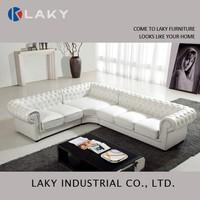 LK-LS1513 Luxury classic European corner leather sofa