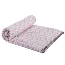 Adorable Pink Heart - Soft&Warm Pet Mat- Polar Fleece Fabric - Well Packied
