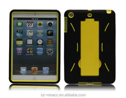Hot Selling PC+Silicone Hybrid Protective Case Cover for iPad mini 1, 2 with kickstand from SZ-Moacc