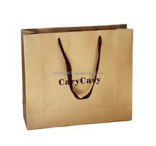 wholesale kraft paper shopping bag with print