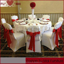 Beautiful rosette flower design modern disposable fitted table covers/wedding decoration chair covers and table covers