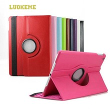 Stand Leather Case for iPad Air 2 360 Rotating Case
