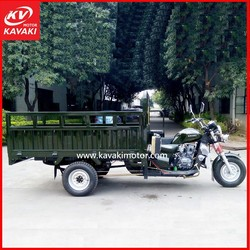 200CC motorized cargo tricycle, water cooled engine motorcycle trike for sale