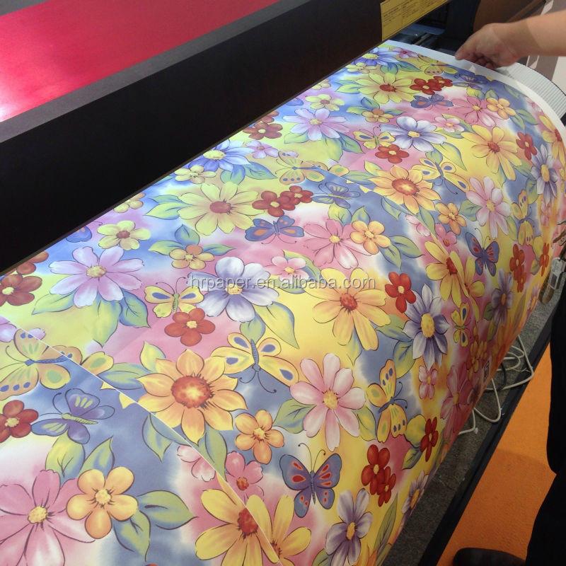 Tamanho do rolo de 210mm de alta qualidade 100gsm inkjet - Papel de transferencia textil ...