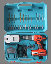 new 2014 manufacturer China wholesale alibaba supplier 18V Li-ion cordless drill of power tool sets tool box