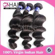 GS new arrival natural color long lasting 14 inches indian cheap human hair weaving
